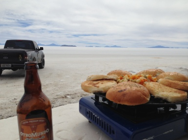 Isla Incahuasi - Lunch time