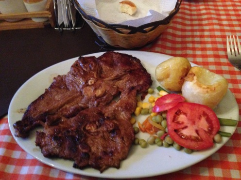 llama meat with potatoes