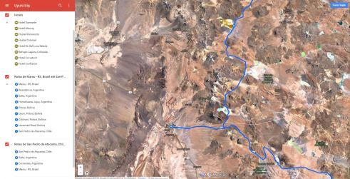 From Laguna Colorada (Bol) to San Pedro de Atacama (Chi)