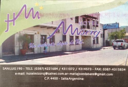 Hotel Misoroj - Salta - Argentina
