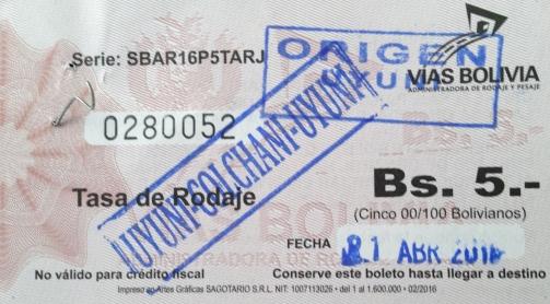 Pedágio - Toll ticket