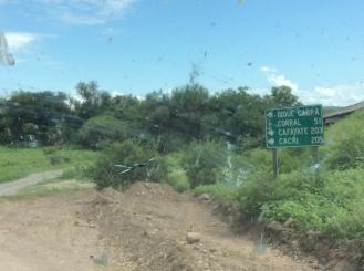 Entrada para o trecho até o Dique Cabra Corral